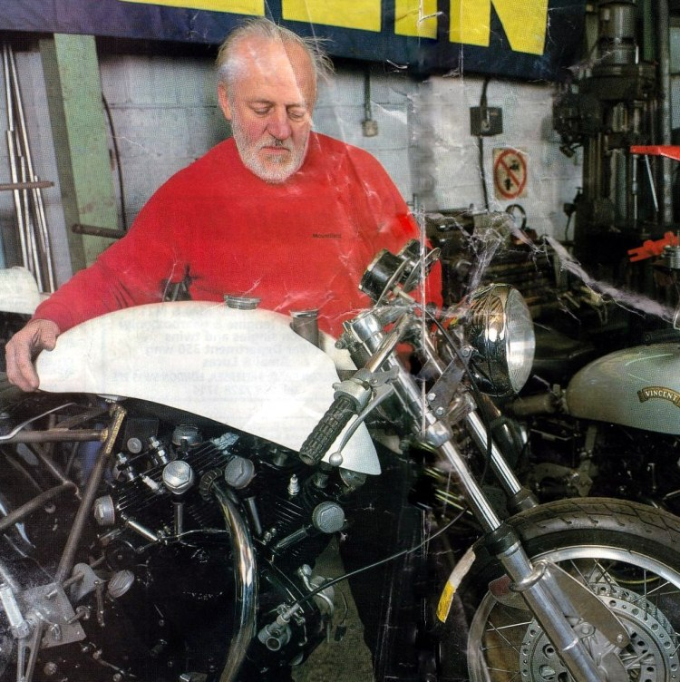 Cyryl Malem in his workshop has assembled 50 Egli-Vincent replicas.