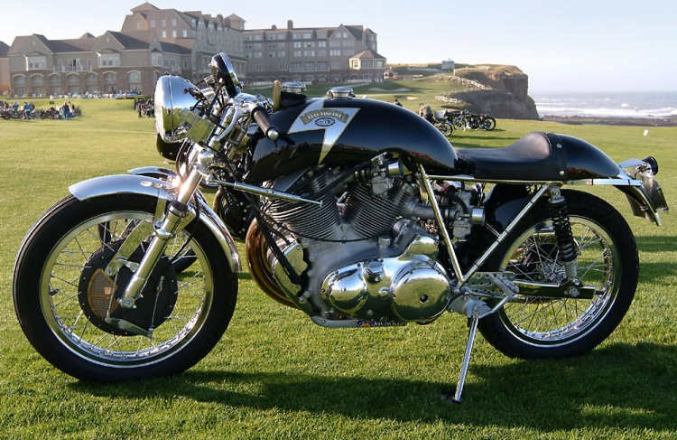 Godet 1330 Cafe Racer with polished engine and no fairing| Copyright 2007 KHI, Inc.