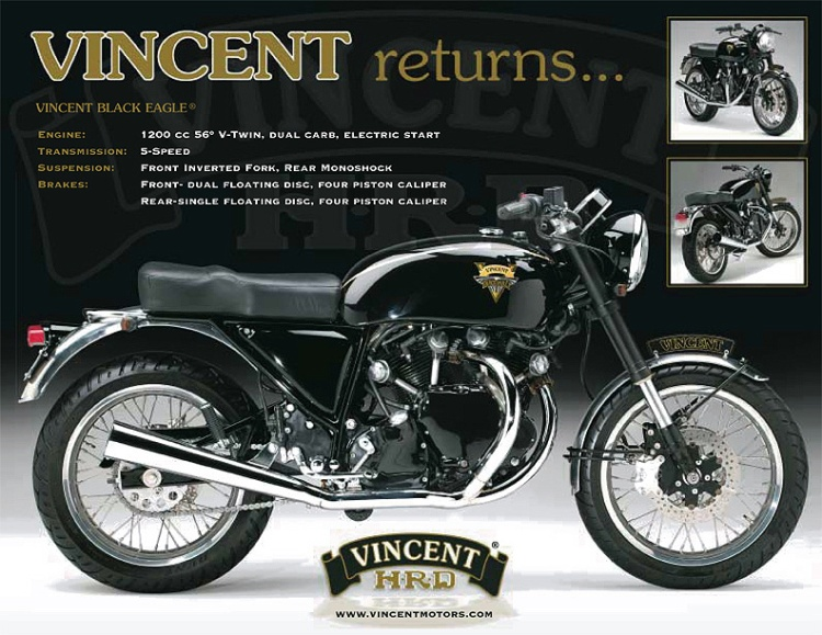 The first prototype was presented in 2001 and was using a 1200cc supplied by Terry Prince.