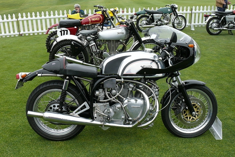 Some Norvin have been built with a chopped frame like this bike with removed front tubes.