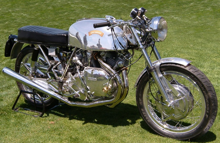 One of the finest Egli-Vincent made by Slater When Keesecker was presented the opportunity to buy a 1971 Egli-Vincent 12 years ago, he didn't hesitate. The Egli he bought is one of 200 built by Roger Slater in England, under license from Egli. Although complete, it was in rough shape and required extensive restoration. The engine, from a 1949 Rapide, is highly modified with bore and stroke increased to yield 1,300cc. Keesecker says it puts out close to 100hp at the rear wheel. By comparison, a stock Rapide put out 45hp.