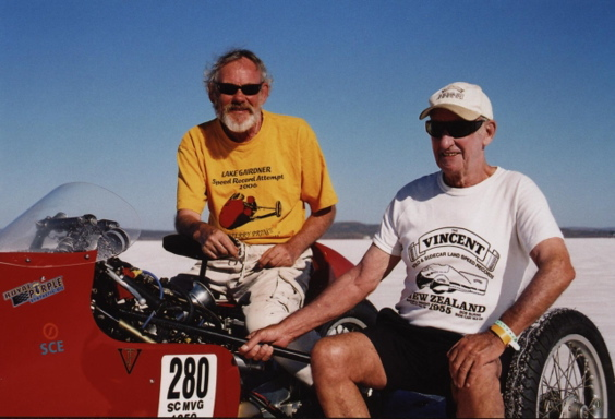 Terry Prince and Russell Wright in 2007