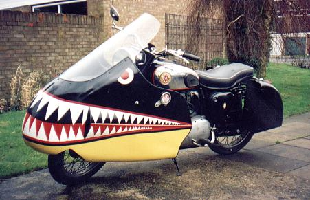 OK, this paint scheme might be fun but I think it also kills its charm.  See attached link to Goffy's BSA A10 http://www.norbsa02.freeuk.com/goffya10.htm
