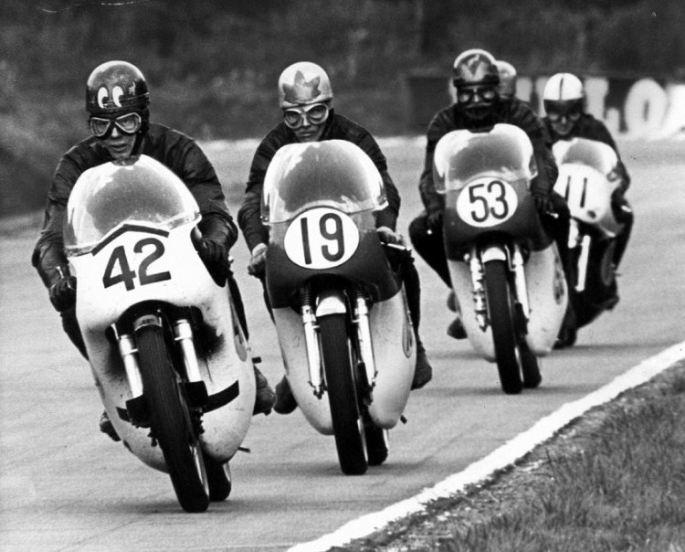 18.John Cooper (42) preceding Bill Ivy (19) and Paddy Driver (53) Active racing1964 - 1972