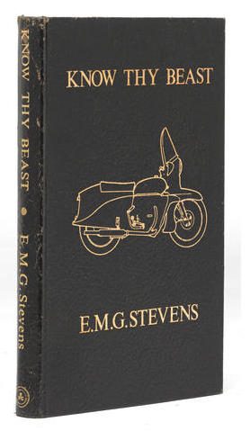 "K As ""Know thy Beast"", from E.M.G. Stevens: a complete and detailed information on the restoration and maintenance of postwar Vincent motorcycles. This original edition was sold $350 at Bonhams, but you can find earlier versions for a more reasonable price."