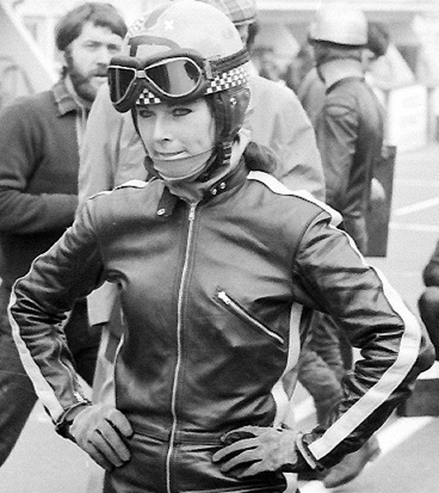 "26. This ""Continental Circus"" album would not be complete without adding Dane Rowe, the most famous of the 3 women which ever competed in Grand Prix. Dane was ""monkey"" in the Sidecar world championship in the late 1960s and 1970s. It adds a bit of diversity in this exclusively male Hall of Fame!"