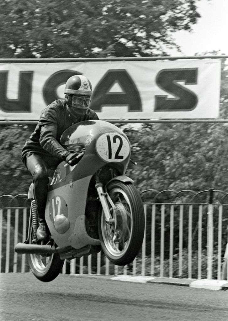 4. Agostini on his MV Agusta 350 on the Isle of Man.