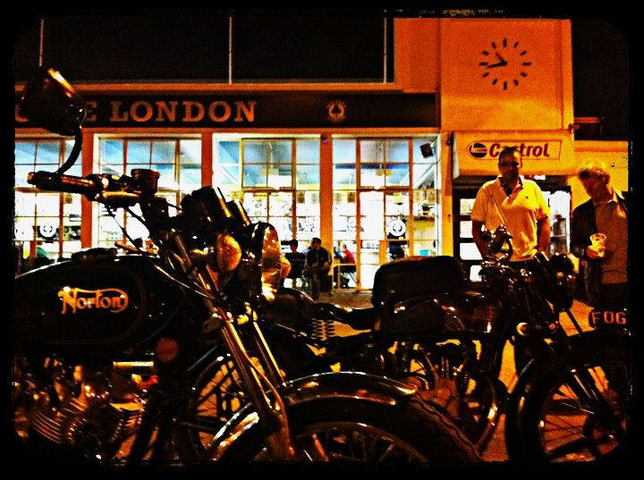 Like many places, the Saturday night is the best time to meet other classic motorcycle enthusiasts.