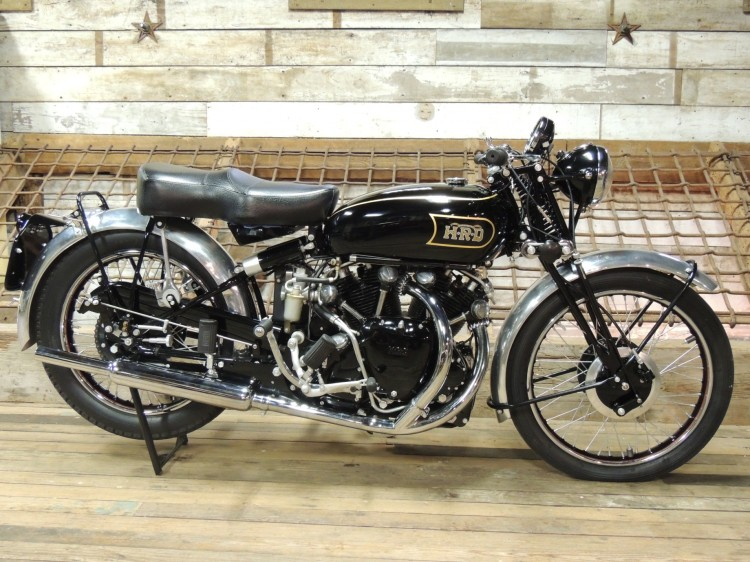 B As a 1000 Black Shadow Series B; if you like the Series B with its Brampton fork, this is the one to get. Beside the black painted engine, the specification includes, larger carburetor (1 1/8 instead of 1 1/16 with a brass front one), polished con-rods, flywheel, valve rockers, combustion chambers and ports, not to mention the famous 5' Shadow clock and larger finned brakes.