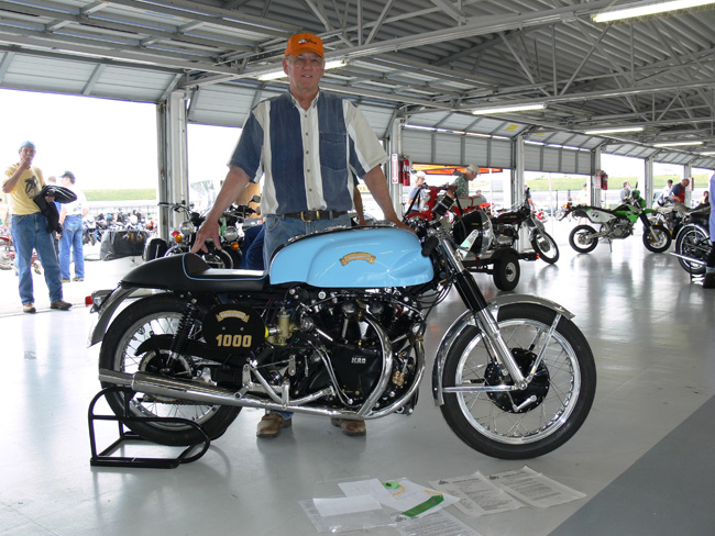 """PARKIN-VINCENT Built between the early 60s and early 70s by Derek Parkin, a racer from West London. About 10 exist: it uses a Vincent headstock, and some Velocette frame parts, with Norton forks, this model seen in the USA was made in 1962   info David Lancaster. When Keesecker got the Parkin 10 years ago, it was ready for help. """"Cosmetically, it was horrible, and the tank was crushed on one side,"""" he says. """"Fortunately, the engine was in good shape. Really, everything inside looked almost brand new."""" Restoration centered on repairing and color-matching the tank (a bit of original paint was still visible on the tank's underside), reconstructing the seat pan and giving the engine (a Series C Black Shadow) a general freshening.. Extract from www.motorcycleclassics.com"""