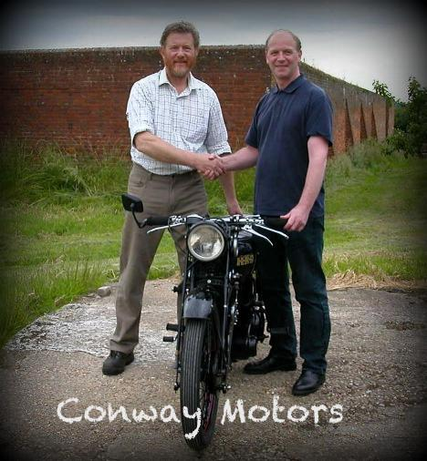 CONWAY MOTORS UK (Kent) Parts, Service and Restoration for Vincent Address: Blacklands, Mill Street, East Malling, Kent, ME19 6DR Phone: +44 (0)1732 842657 (own by Colin Jenner) Email: colin@conway-motors.co.uk  Website: www.conway-motors.co.uk