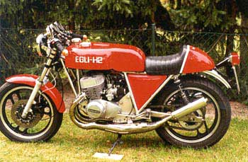 A sweet Egli-Kawasaki 750 H2: you need to be at least 50 years old to understand  10 units between 72-75 (750H2) and 10 units between 69-74 (500H1)