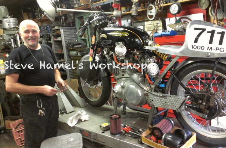 STERLING CYCLE WORKS (STEVE HAMEL) USA (Minnesota) Parts, Service and Restoration for Vincent, Agent for Terry Prince Vincent Address: 586 Sherburne ave, St. Paul, MN 55103, USA Phone: +1 651 290 0889 (Own by Steve Hamel) Email: gearheads@comcast.net  Website: -
