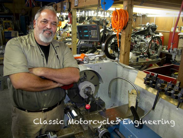 GLENN BEWLEY'S CLASSIC MOTORCYCLE ENGINEERING USA (Tennessee) Full line of services for Vincents from restorations to component rebuilds Address: for security, disclosed after customer relationship initiated  Phone: 423 257 5200 (Own by Glenn Bewley) Email: GB@ClassicMotorcycleEngineering.com Website: www.ClassicMotorcycleEngineering.com
