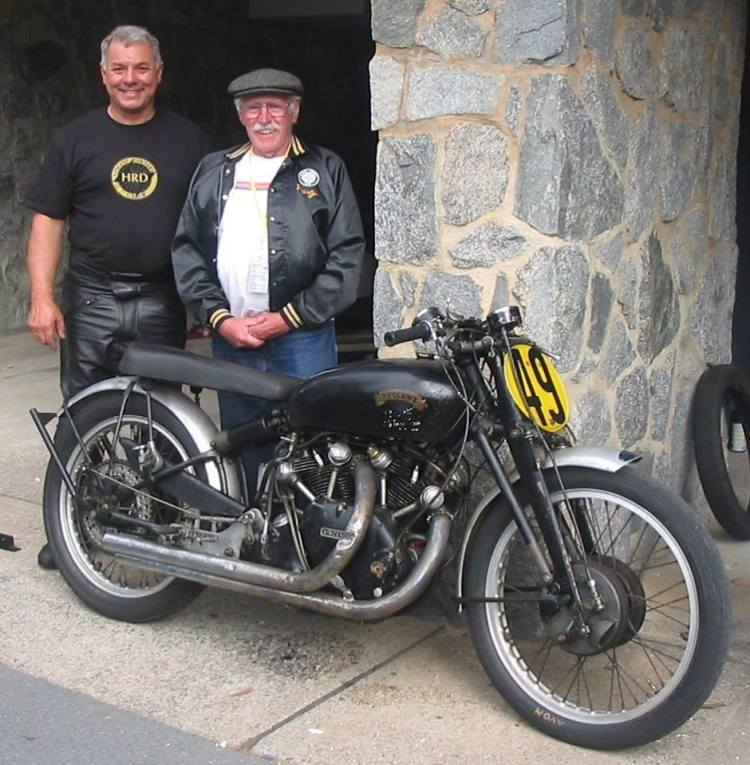 Jack Ehret's bike with Marty Dickerson (right)