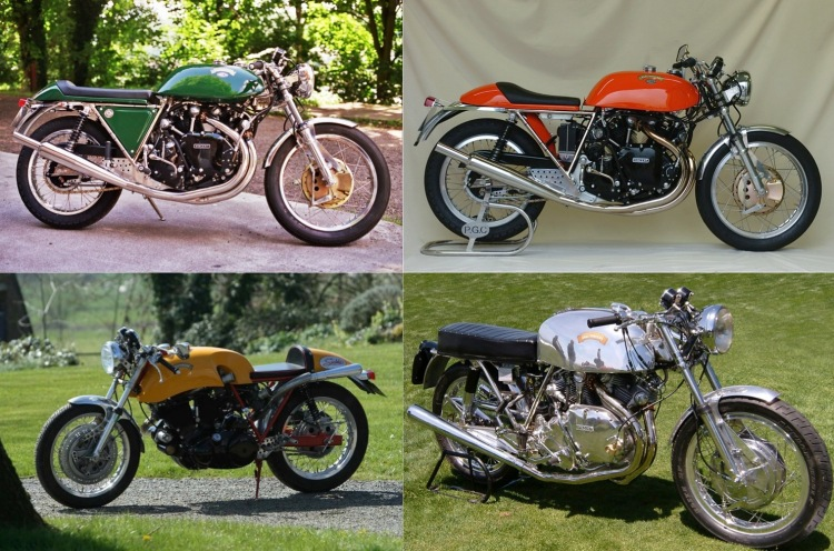 The EGLI have a few other popular color scheme: BRG, Yellow, Orange and Polished Aluminum, rarely seen on a stock Vincent (I accept pictures if you have some)