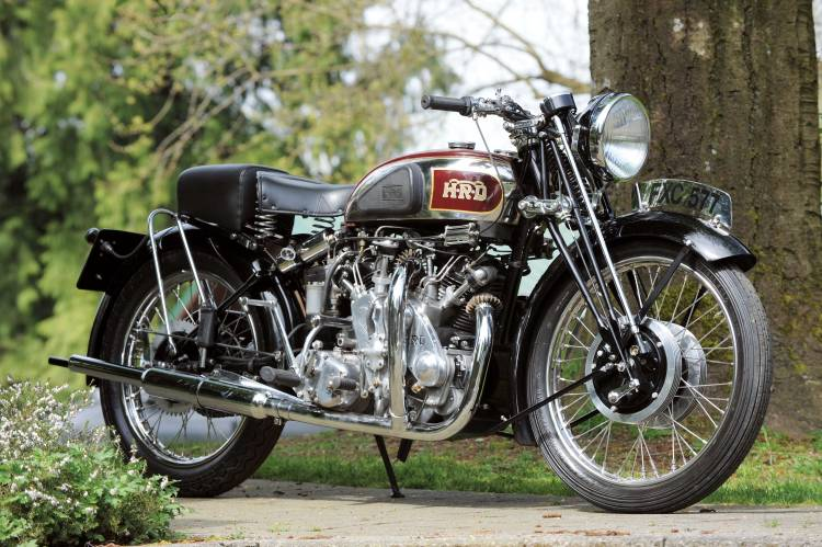 Look at this first motorcycle; nothing wrong with her, this is just a nearly standard (see comments below) 1939 Series A Rapide, one of the 78 ever produced before WWII. But look at the next one with this picture in mind…