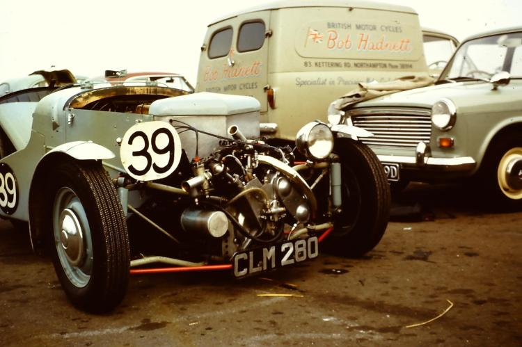 Best shot I have seen of this MogVin with a series A. It was regularly raced in the early 70s.