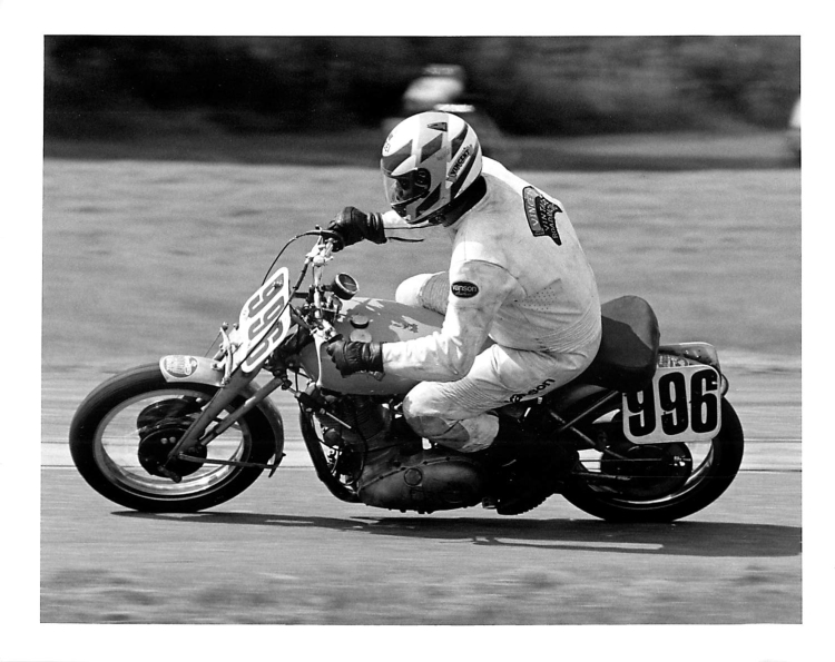 Carleton Palmer, who like David Dunfey raced a real Grey Flash and then a Comet. Carleton won three national championships with the Flash and two with the pre-war TT Replica that was originally owned by Eric Oliver. All five were with AHRMA.