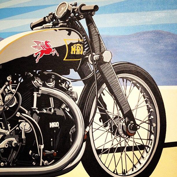 Rollie Free's bike on Salt Lake