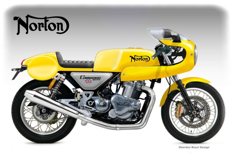 Norton Commando 961 Production Racer © Oberdan Bezzi