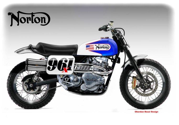 Norton Commando 961 Desert Concept © Oberdan Bezzi