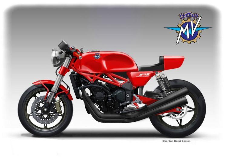 MV Agusta Cafe Racer Concept © Oberdan Bezzi