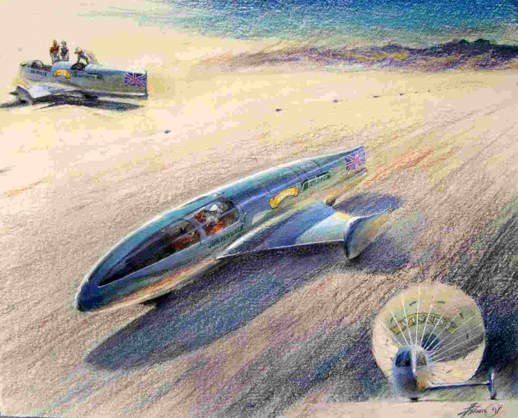 John Renwick from the UK is building a Vincent powered sidecar to challenge the World Land Speed Record in 2008