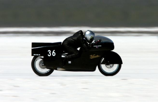 On Salt Flat at Bonneville in 2011 | Picture Stuart Hooper