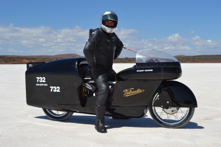 New world record with the addition of the supercharger at 171.600 mph during the 2013 Bonneville speed week. | Picture Stuart Hooper