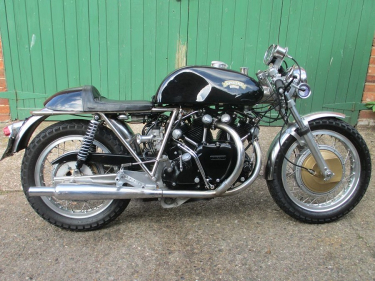 "03/17/2014 | EGLI-VINCENT by MOSSEY in the UK JMC Egli Vincent 1000 built around 2000. Frame # R2223 and Engine # F5AB2A3058 . Offers around 40,000 GBP. Contact classicbikes@btinternet.com or +44 (0) 1630 657156 www.classicbikes.co.uk My comment: I include this bike as you can came acrosstotheadd on the net. Please note that theframenumberis said to come from a Vincent Comet (so is theenginenumberF5AB/2A instead of F10AB/1). As some countries do notacceptengineupsize, check if the title specify ""Comet"". Get also the confirmation on what happen to the original Comet frame (salvaged?)in order to prevent the risk of a double numeration, or preferably contact the V.O.C. referring to the description, asking price is also too high, for informationthisbikewasauctionedatBonhams 18,400GBP on Oct 18, 2009. http://www.bonhams.com/auctions/17664/lot/403/"