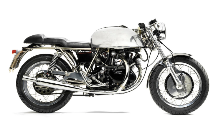 Bonhams auction on 4/23-24/2016 at Stafford This is a Vincent Shadow 70 with a desirable Black Shadow engine (F10AB/1B/4868) and a Slater frame (VIN28) Pre-sale estimate is £20,000-30,000 and $28,000-42,000. Contact: http://www.bonhams.com/auctions/23600/lot/317/