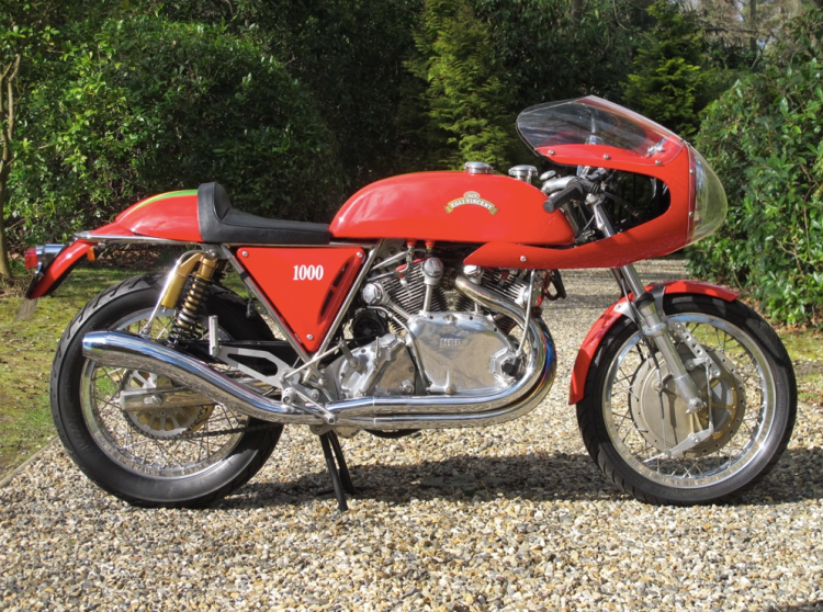 EXPIRED | MOSSEY-VINCENT in the UK Add says: 1948 Vincent HRD 1000cc Series B Rapide (Egli Frame, Electronic Start) - £55000. Fully restored/rebuilt working 1948 Vincent HRD 1000cc Series B Rapide Egli frame in red with electronic start, has been rebuilt/restored with original parts by J.M.R. (John Mossey) restorations in Jan 2007 finished by Dave Hailwood Sept 2008. 07/25/2014 My comment: This bike is for sale for a while, price is definitely high. http://london.en.craigslist.co.uk/mcy/4536061637.html