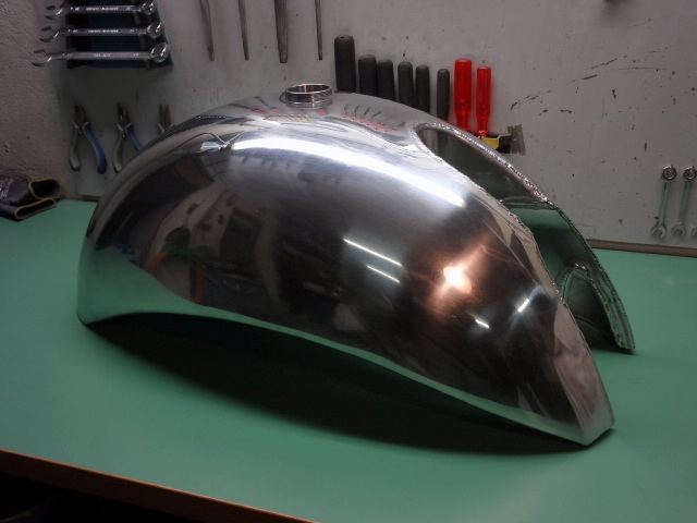 Fully welded, leak-proofed and polished. Ready to fit the Egli