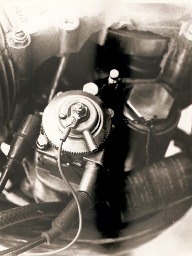 """A picture that we would not like to see, but it happens in racing.  """"The damaged crankcases, which were repaired and used for the blue 1272cc"""" Picture © Anne Callagher"""