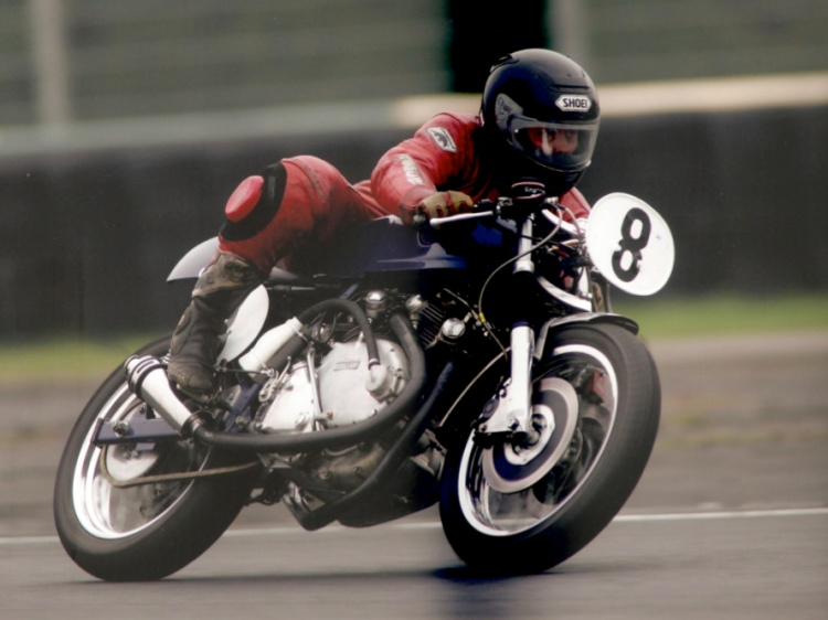 Barry Gooding on the Blue Capon at Brands Hatch in 2008 Picture © Anne Callagher