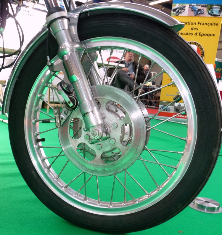 The original Egli-Vincent brake from Campagnolo; if anyone had the idea to make a replica, I think t will sale like hot cakes.