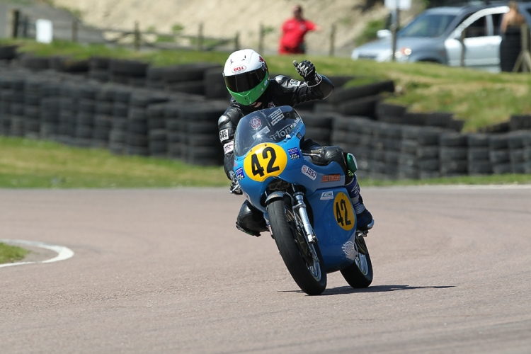 Alex won the 3rd race in both categories 500cc and 750cc Pictures © Russell Lee (1)