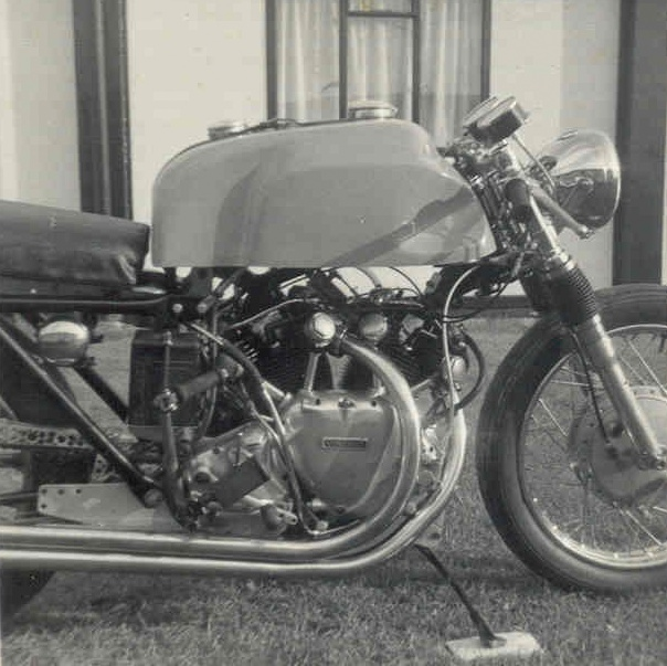 Bill Norton's Parkin was a 1000 Series D imported privately from England in the early 60s. This bike was first bought by Leo Goff, a well-known dragster guy and was loaded with Black Lightning components. Credit Photo: Samer