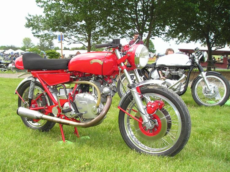 Bill Norton's Parkin Vincent today in its second life; the front fork is from a Kawasaki with dual disk front brakes and the rear caliper is from Brembo. Picture courtesy Craig Comontofski