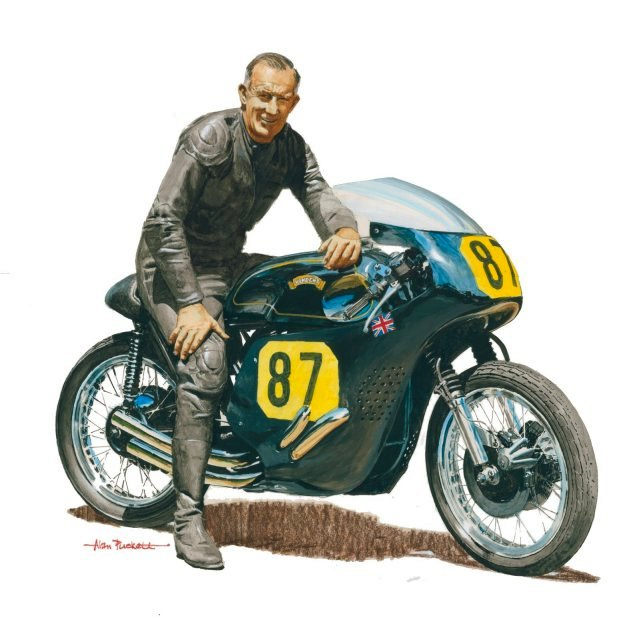 Alan Puckett has immortalized Eric Debenham on Mk II with this watercolor painting.