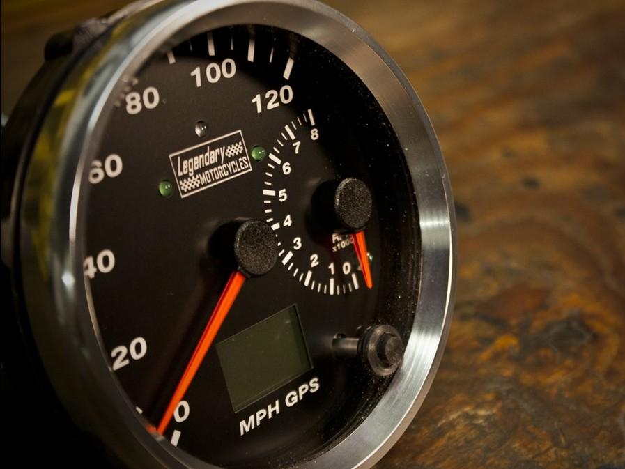 Cafe Racer Gauges : Gps speedometer the egli vincent