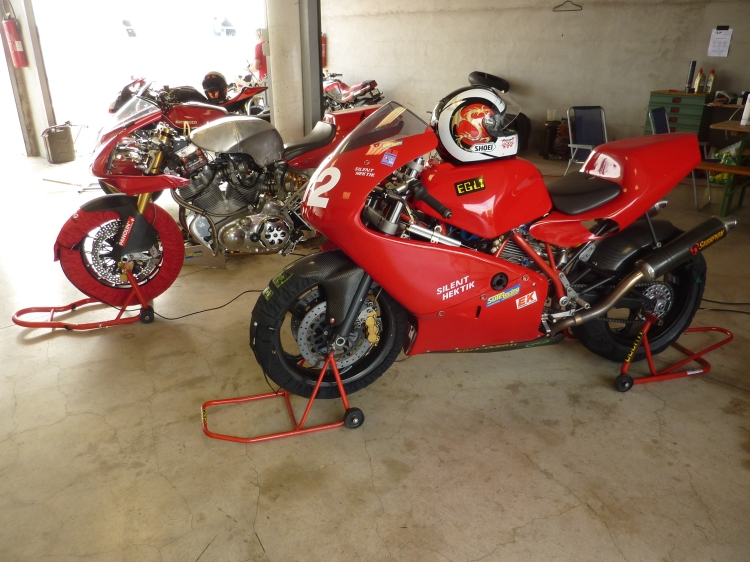 Of course, the good old EGLI-DUCATI, ED984SSR, is attending