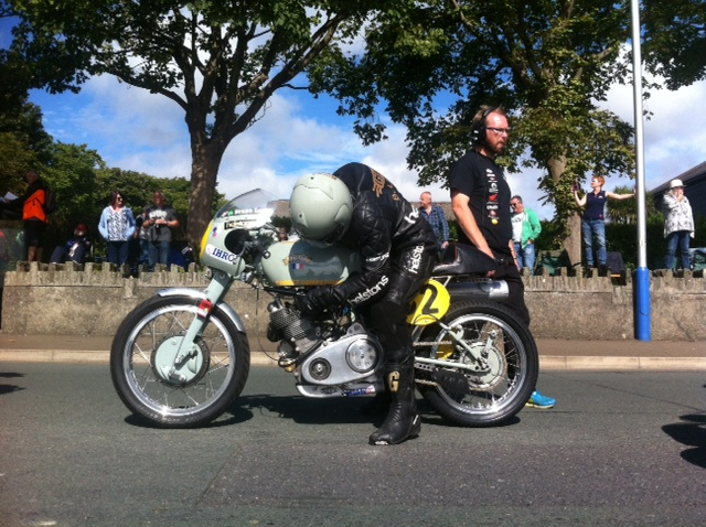 Bruno in pre-grid; he seemed to already has some issue with fuel feeding even before starting. Photo (c) David Lancaster